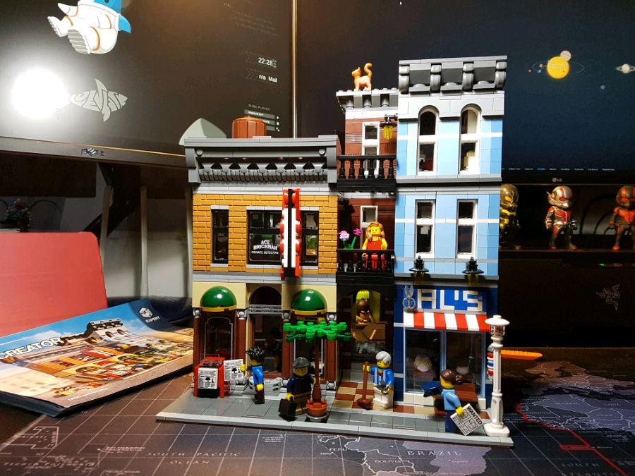 En Stock 15011 détective bureau Street View créateur série LELE30008 blocs de construction 2262 pièces jouets compatibles avec bela 10246