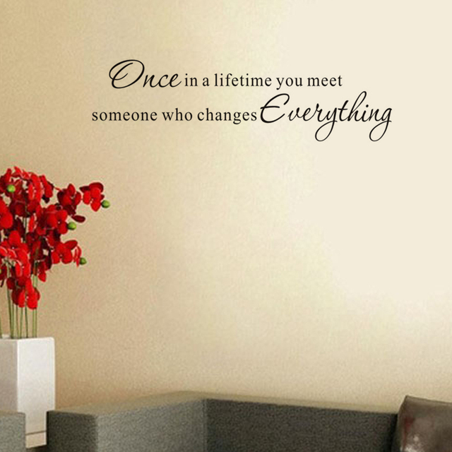 Once In A Lifetime You Meet Quotes Wall Stickers Home Decor Vinyl