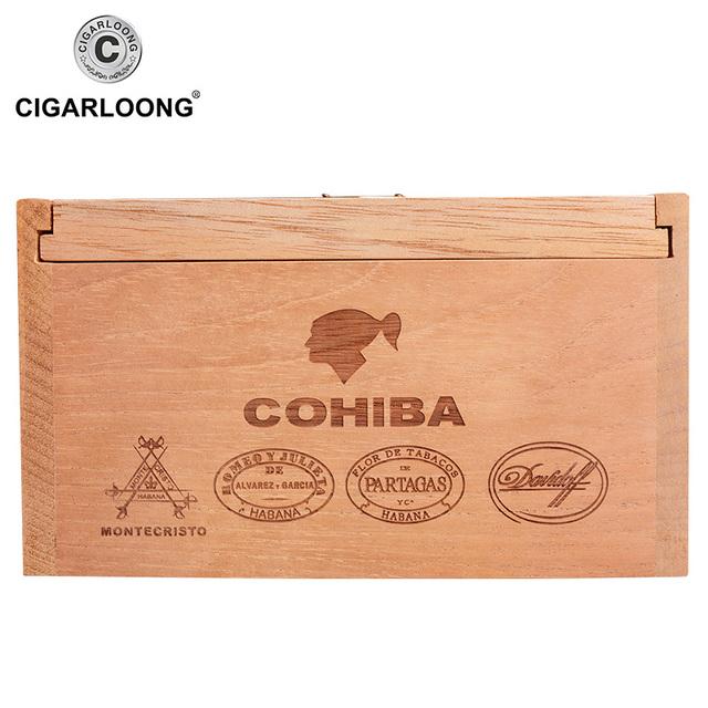 CIGARLOONG Cigar Box Cigar Humidor Cedar Wood Humidor Paintless Box 50 Pack CA-4007