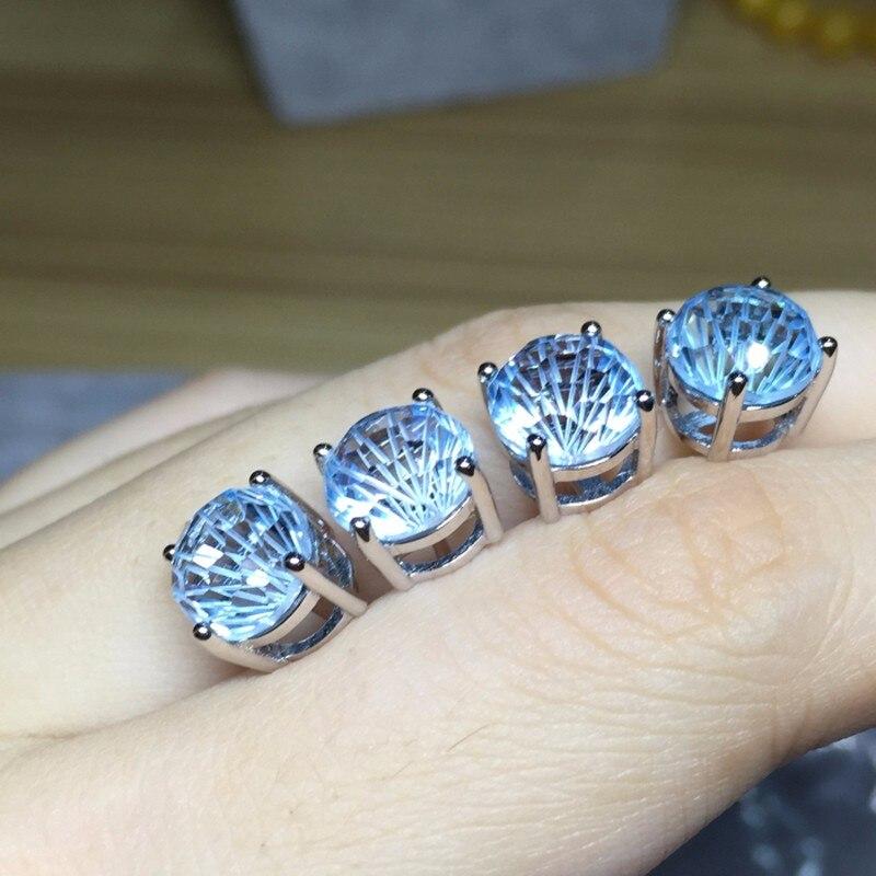 8 мм ааааа большие серьги с натуральным топазом, 925 сережки из серебра, ювелирные изделия для девочек с цветочной огранкой, специальный подарок