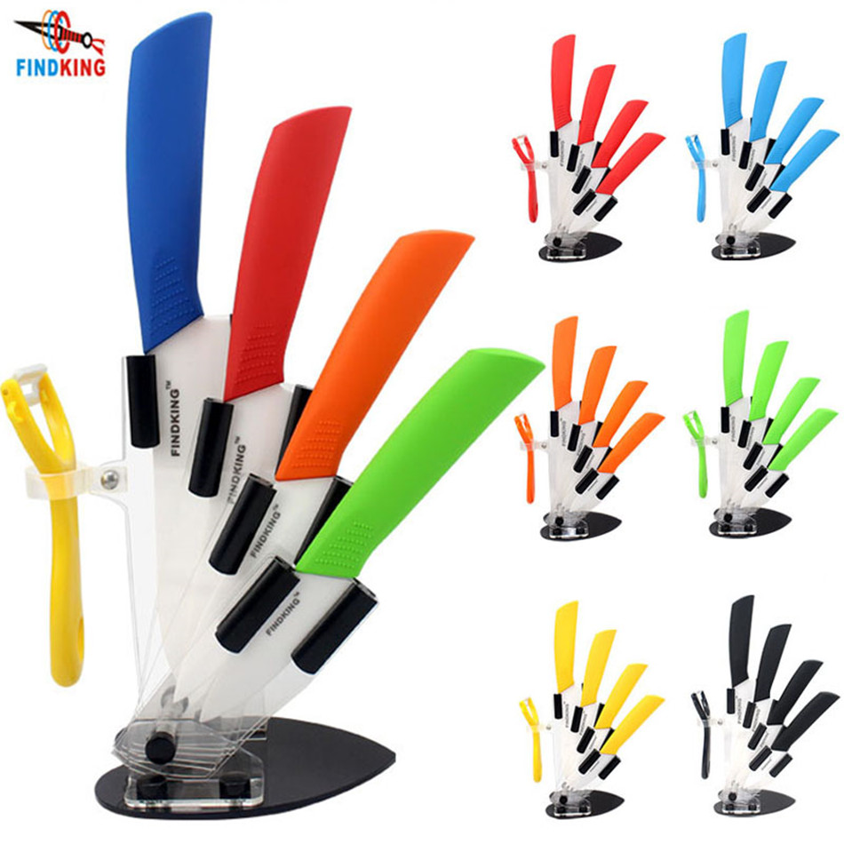Knife-Set Peeler Kitchen-Knife Ceramic Chef Zirconia 6--Inch with 3-4-5-High-Quality
