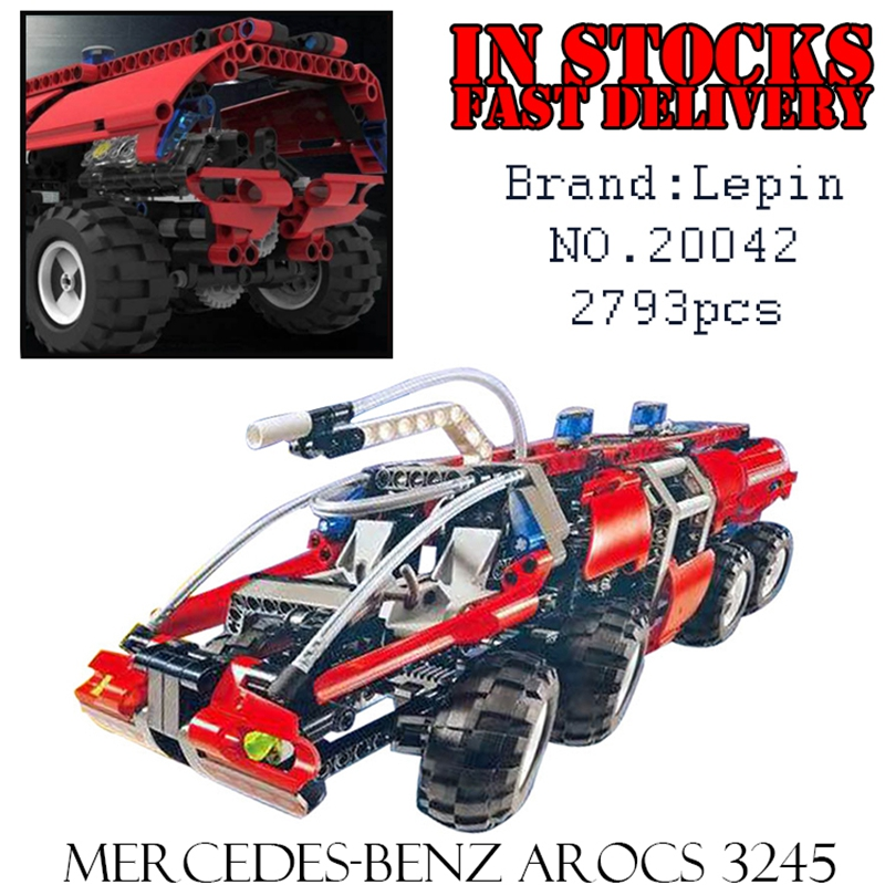 Lepin 20042 674Pcs Genuine Changing Technic Series The Airport Fire Truck Set Educational Building Block Bricks Toy for children jie star fire ladder truck 3 kinds deformations city fire series building block toys for children diy assembled block toy 22024