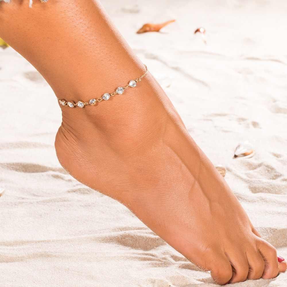 Vienkim ヴィンテージファッションクリスタル女性リンクあごボヘミアンゴールドシルバー色靴ブーツチェーンブレスレットジュエリー