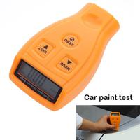 Brand New Portable Digital Coating Painting Film Zinc Plating Thickness Gauge Tester Yellow With AAA Battery