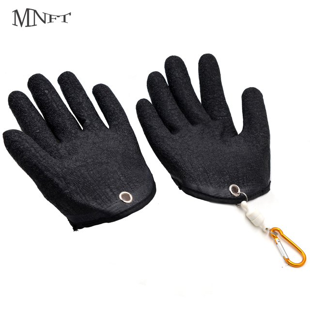 MNFT 1Pcs Fishing Glove Magnet Release Fisherman Protect Hand from Cuts Puncture Scrapes Latex Fishing Left/Right Hand Gloves
