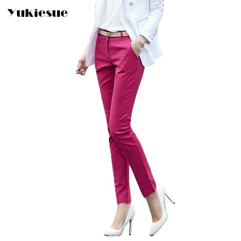 High waist elegant woman office   pants   trousers work   Capris   ladies OL formal pencil skinny   pants   classic for women Plus size