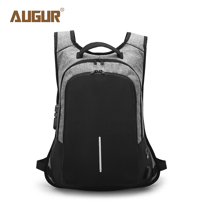 AUGUR Anti Theft Backpack Men Women School Bag Fashion Laptop Backpack For Teenagers Usb Back Bag Men Anti-Theft Travel Bagpack arctic hunter design backpacks men 15 6inch laptop anti theft backpack waterproof bag casual business travel school back pack