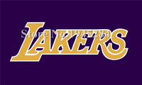 LA Lakers Flag New 3x5ft 90x150cm 100D Polyester Flag Banner 1026 Free Shipping