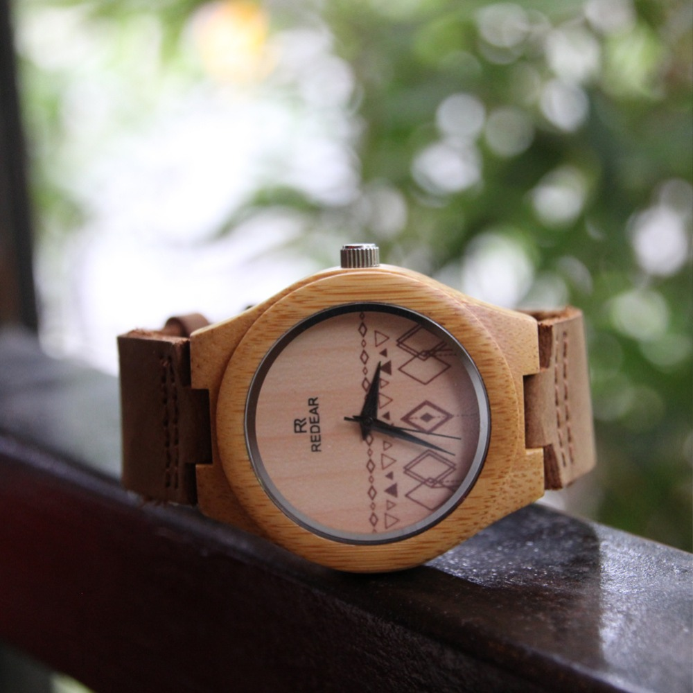 Fashion Brand Bamboo Watch Fashion Top-grade Lovers  wooden watch Men's & Female watch Gift Quartz Exquisite Wrist Watches new top grade gift pure tan wooden type h chun tan mu shu h kuan