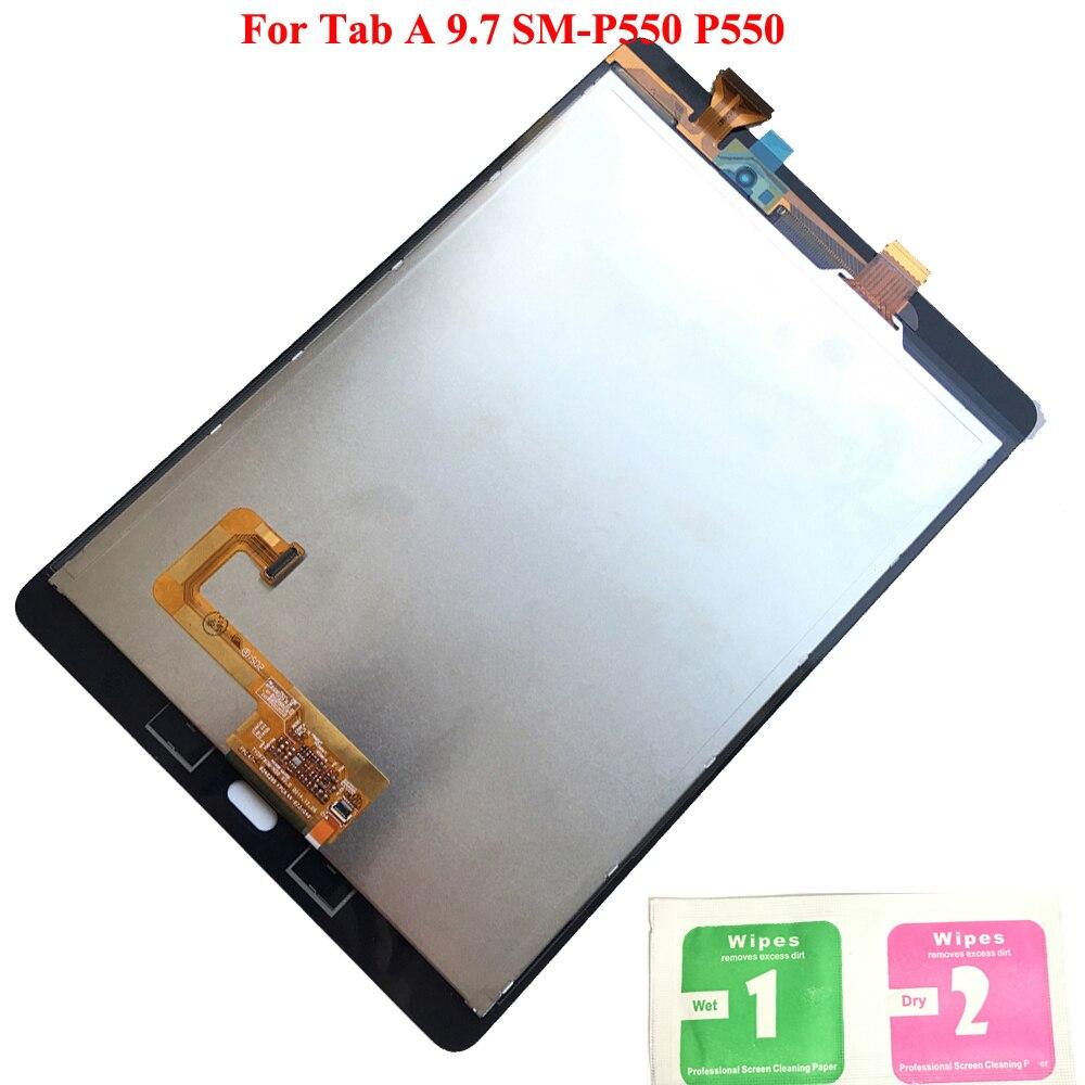 LCD Affichage à L'écran Tactile Digitizer Capteurs Plein Assemblée Panneau LCD Combo Remplacement Pour Samsung GALAXY Tab Un 9.7 SM-P550 P550