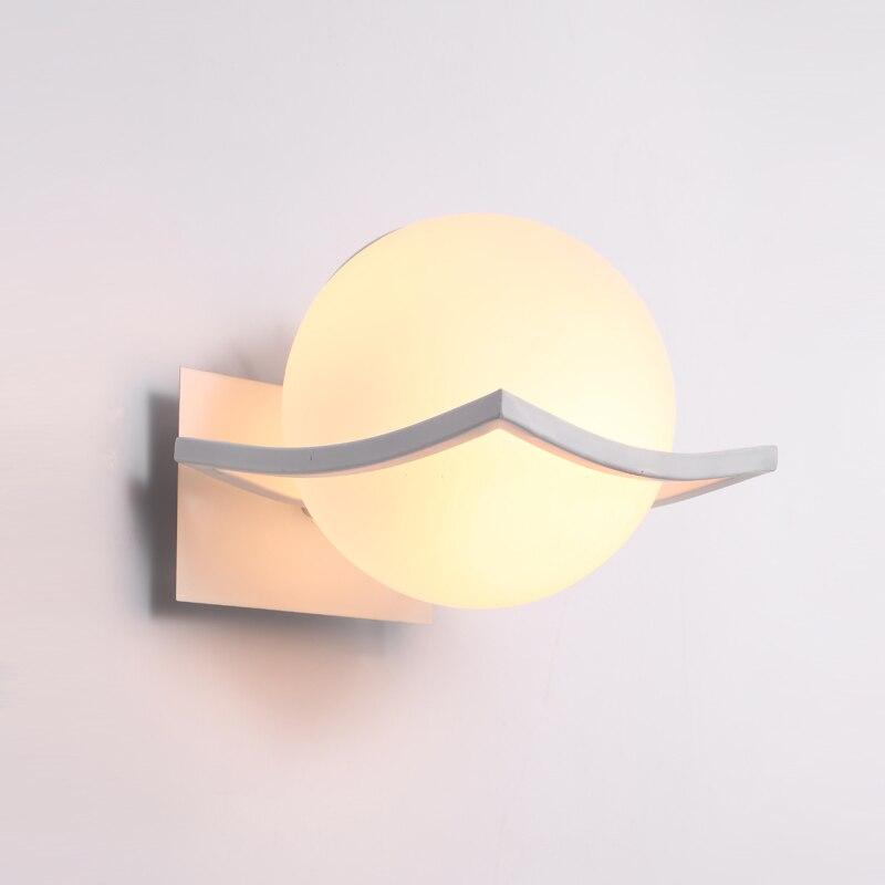 Unique nouveauté led mur lampes boule de verre appliques murales pour la maison E27 AC85-265V