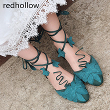 Summer Sandals Women Shoes Flock Lace Up Flat Sandals Ankle Strap Round Toe Fashion Ladies Shoes Flat With Women Sandals