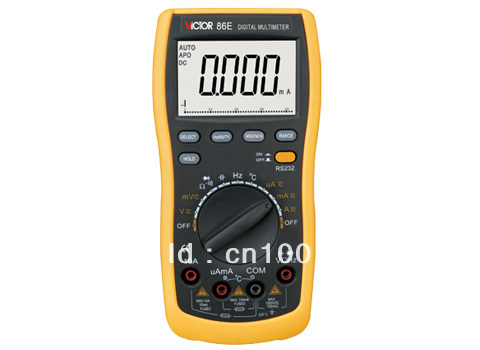 Digital VICTOR victory multimeter VC86E 4 1/2 Digit Precision multimeter / frequency / capacitance / temperature with USB