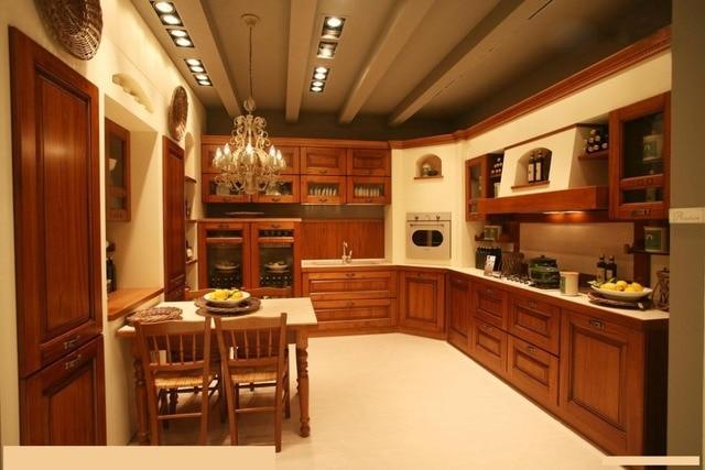 Semplice mobili da cucina in legno massello di ciliegio disegni in ...