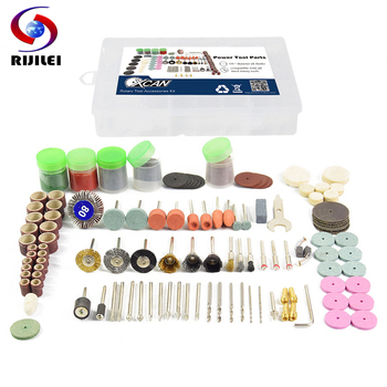 RIJILEI 171PCS BIT SET SUIT MINI DRILL ROTARY TOOL FIT DREMEL Grinding,Carving,Polishing tool sets,grinder head,Sanding disc rijilei 136pcs dremel rotary tool accessory attachment set kits grinding sanding polishing sander abrasive for grinder