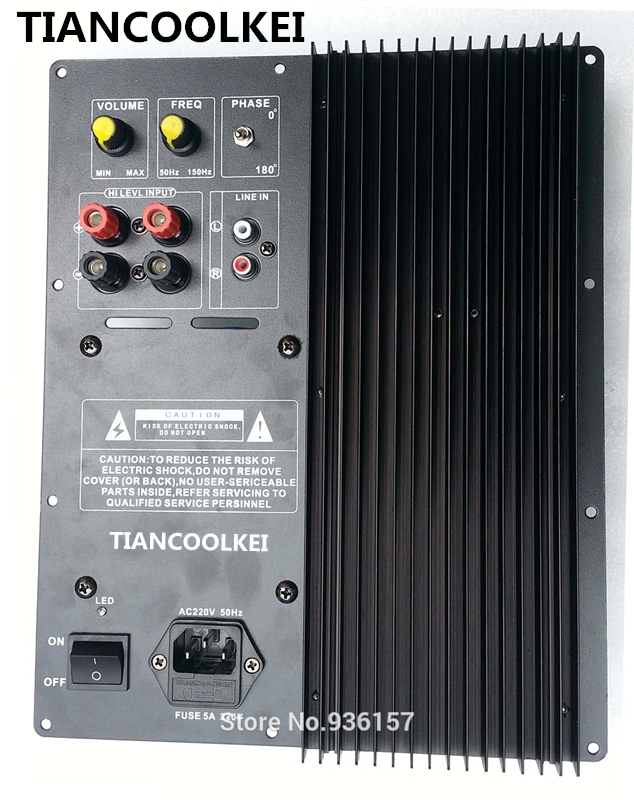 Subwoofer amplifier board 300W low pass filter subwoofer pure home theater active subwoofer amplifier amplifier for