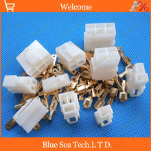6.3mm 1&2&3&4&6&9 Way/pin Electrical Connector Kits(1/2/3/4/6/9 Pin) for Motorcycle Car ect.
