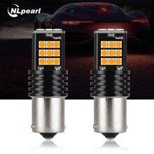 NLpearl 2 шт. автомобиля светодио дный стороны сигнальная лампа 12 В 24 В 1156 BA15S P21W BAU15S PY21W светодио дный Canbus лампы Включите стоп-сигнал заднего хода