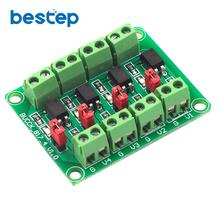 цена на PC817 4 Channel Optocoupler Isolation Board Voltage Converter Adapter Module 3.6-30V Driver Photoelectric Isolated Module 817