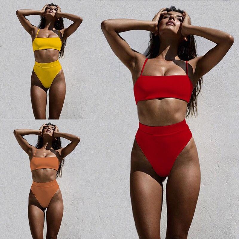 ZTVitality Sexy Bikinis Solid Push Up Bikini 2019 Hot Sale Padded Bra Straps High Waist Swimsuit ZTVitality Sexy Bikinis Solid Push Up Bikini 2019 Hot Sale Padded Bra Straps High Waist Swimsuit Swimwear Women Print Biquini XL