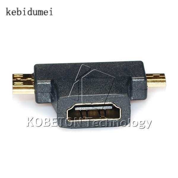 3 in 1 V1.4 High Speed 1080P HDMI Female to Mini  Micro HDMI Male Connector Adapter Converter Type D C A for HDTV