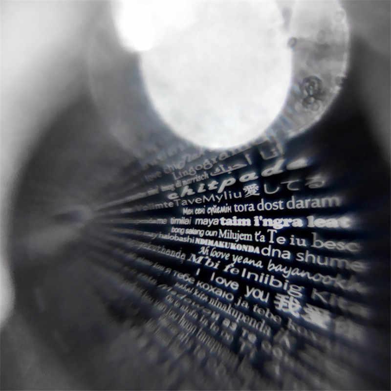 Dropshipping różowe złoto okrągły wisiorek kocham cię w 100 językach projekcja naszyjnik dla pamięci miłości Choker Collier hurtownia
