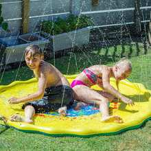 Inflatable Sprinkler Cushion Summer Children's Outdoor Play Water Games Beach Mat Lawn Toys Cushion Gift Fun For Kids Baby(China)