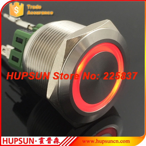 цена на 2pc waterproof 5v 12v 30mm stainless steel red green momentary push button switch stop start button reset pushbutton switch