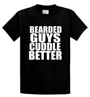 T Shirt Stores Bearded Guys Cuddle Better Cute Valentines Day Men S Crew Neck Short Sleeve