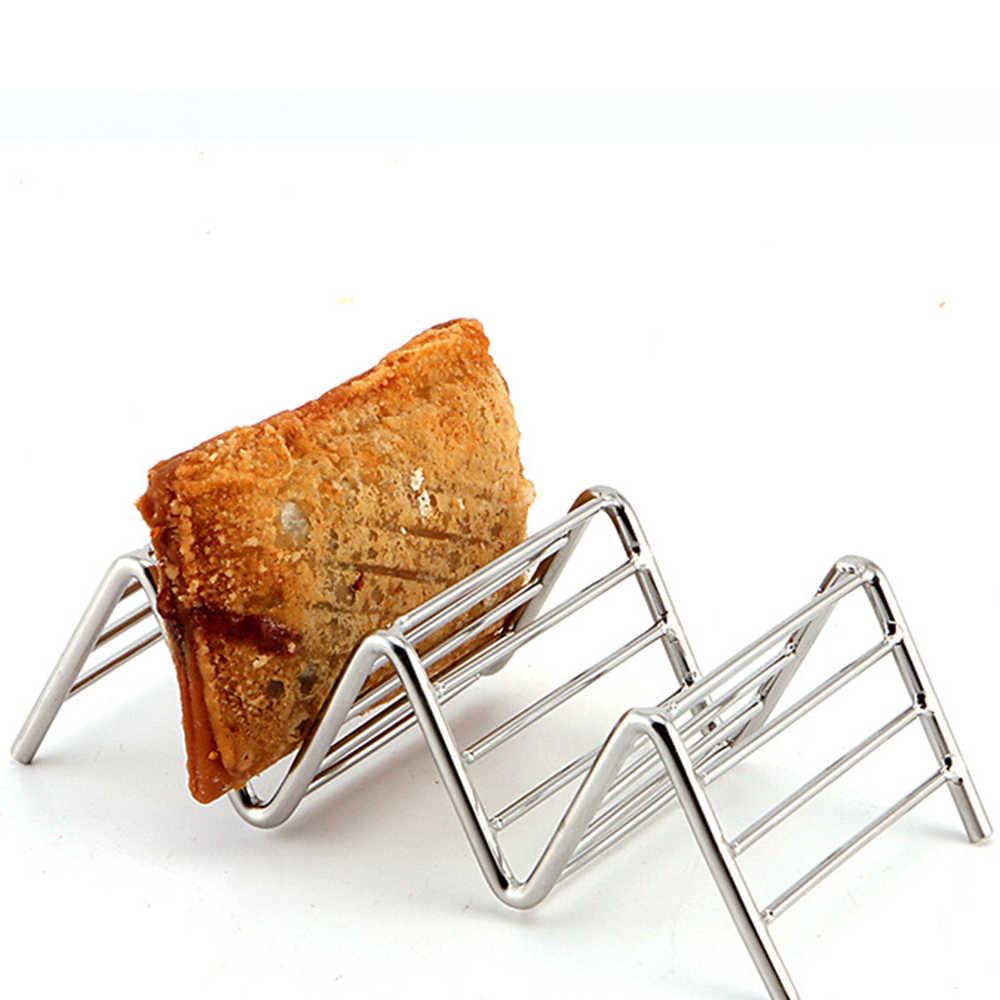المطبخ شكل متموج حامل دوار الذرة تاكو عرض أصحاب الفولاذ المقاوم للصدأ الغذاء الرف قذيفة 1/2/3/4 شبكات قذائف أدوات الطبخ المنزلية