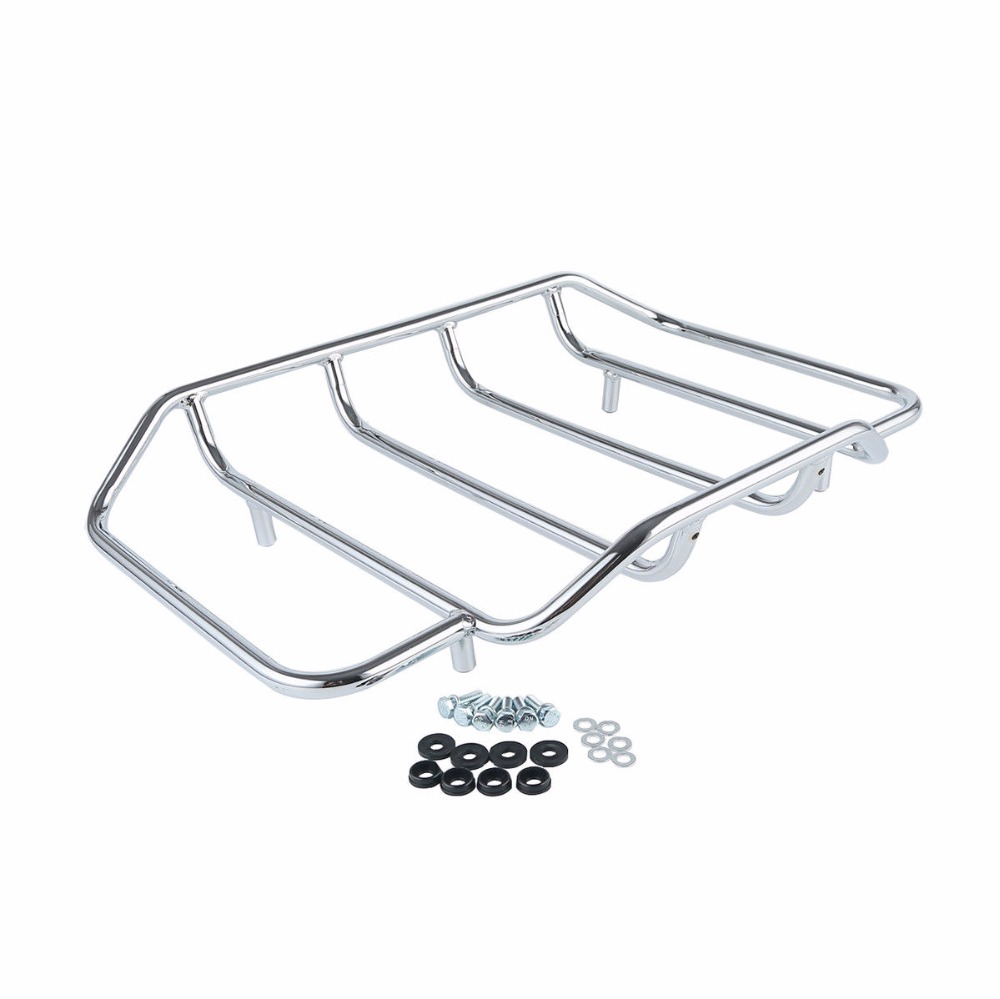 Image 5 - Motorcycle Tour Pak Pack Trunk Luggage Rack Backrest Pad For Harley Touring Road King Electra Glide Road Street Glide 2014 2018