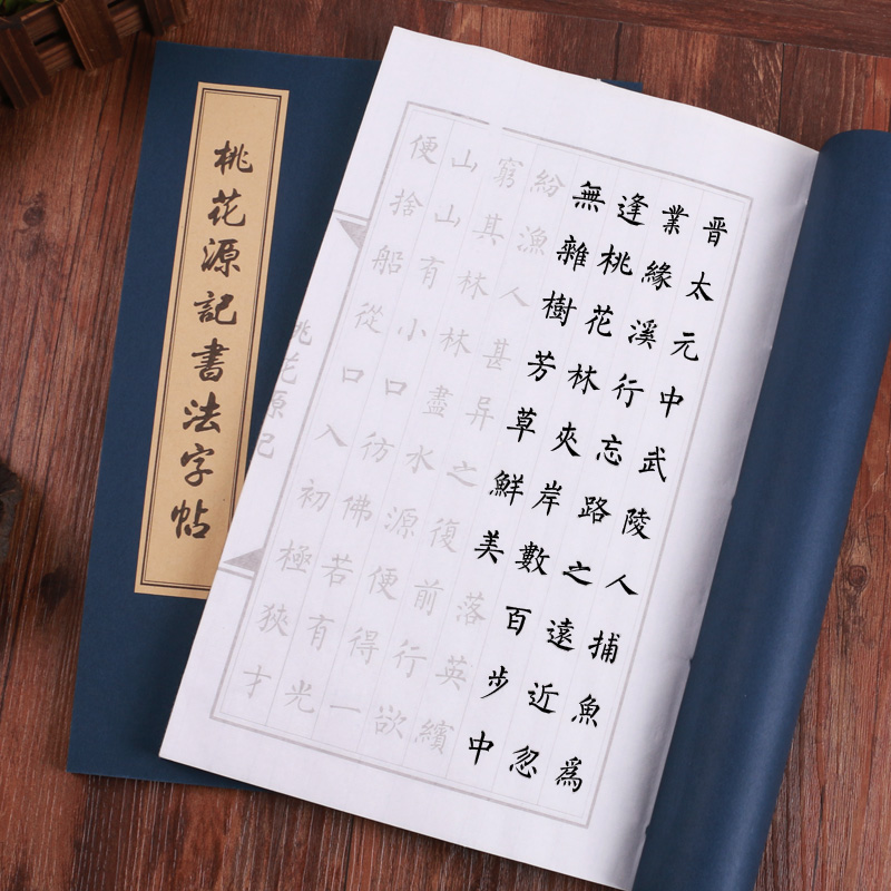 Peach Blossom Spring Learn Quickly Trace The Copybook Calligraphy Chinese Character Practice Small Rregular Script