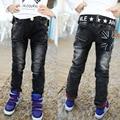2017 new Spring and autumn winter plus thick velvet jeans boy pants children Korean baby boy pants black jeans