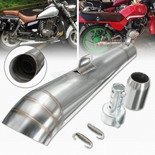 цена на 48.8MM Modified motorcycle exhaust pipe stainless steel fried tube gp exhaust pipe than 150cc less1000cc is ok dual exhaust