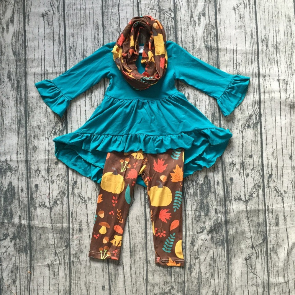 все цены на baby girls winter OUTFITS girls 3 pieces with scarf set baby girls dress top witth long pants outfits girls boutique clothes онлайн