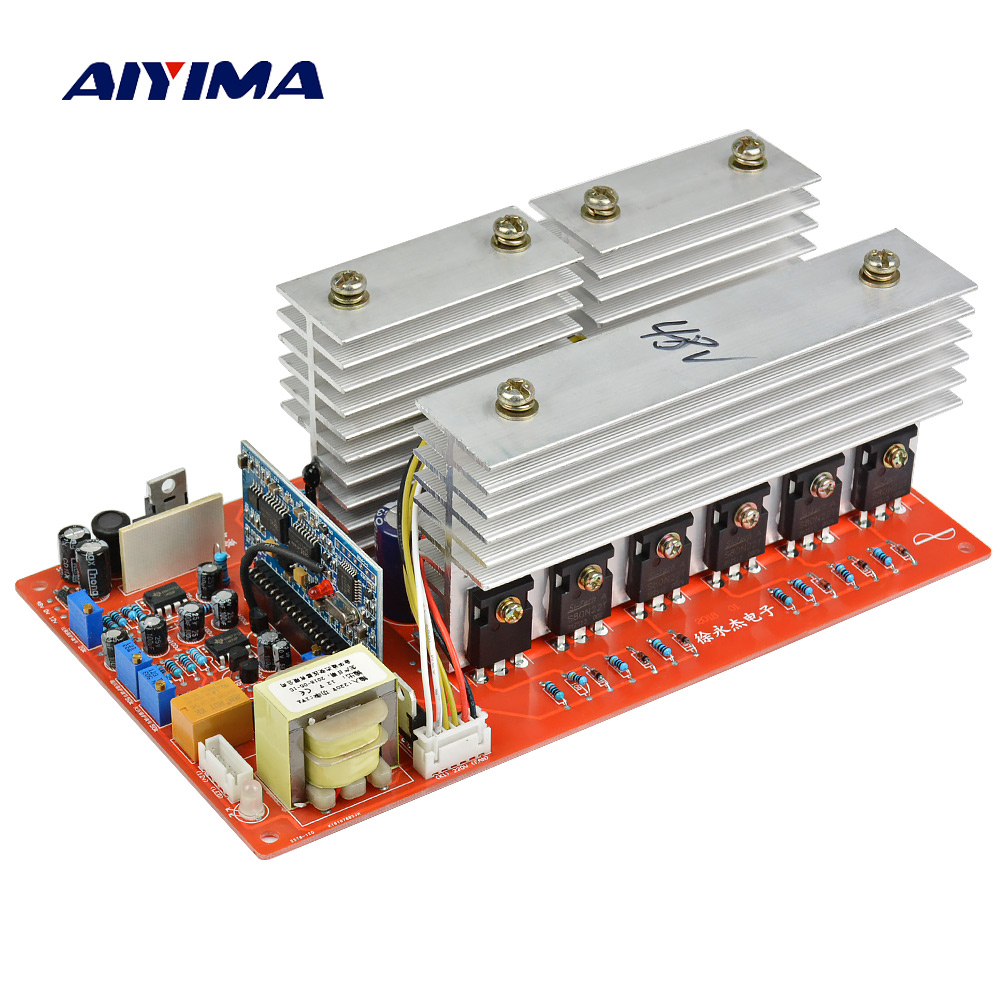 Aiyima Pure Sine Wave Power Frequency Inverter Board DC 24V 36V 48V 60V to AC 220V 2000W 3000W 4500W 5000W Pass Technical Test 24v 36v 48v 60v 1kw to 5kw pure sine wave power frequency inverter motherboard circuit board pcb motherboard