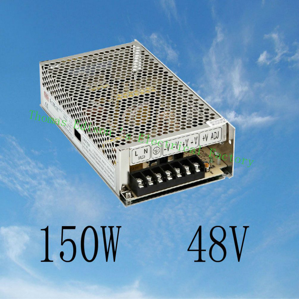 DIANQI led power supply switch 150W  48v  3.2A ac dc converter power supply unit S-150-48 48v variable dc voltage regulator dianqi led power supply switch 350w 24v 14 6a ac dc converter s 350w 24v variable dc voltage regulator s 350 24