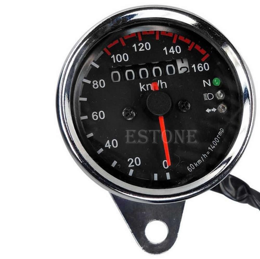 Universal Motorcycle Dual OdometeBrand New r Speedometer Gauge LED Backlight Signal Light 12V Digital Motorcycle Gauge Drop ship