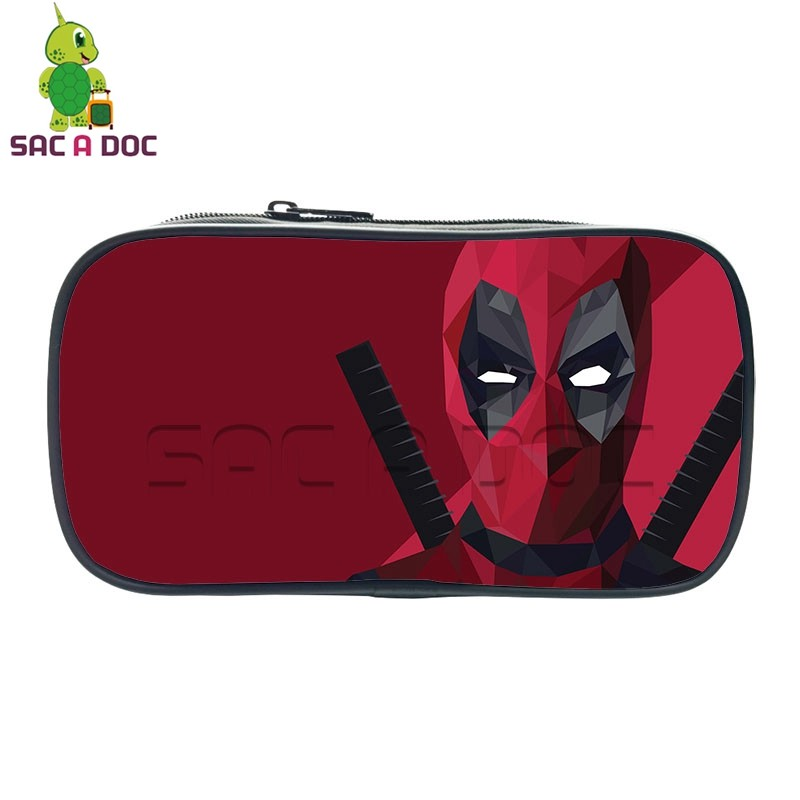 Super Hero Deadpool Small Cosmetic Cases Pencil Holder Kids Boys Girls School Case Stationery Bag Students School Supplies