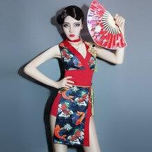 afe78f42eb422 اليابانية التقليدية كيمونو امرأة البشكير الجيشا الملابس الأحمر مثير  الكيمونو تأثيري aodai خمر الملابس اللباس اليابانية