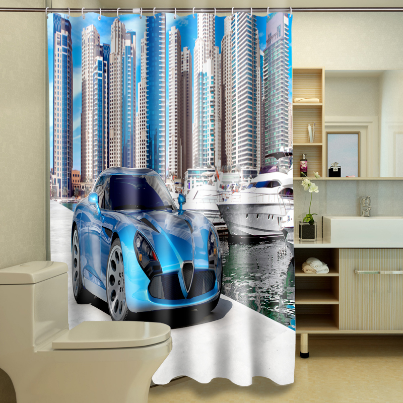 Online Shop Customize 3D Shower Curtains Super Sports Car Pattern  Waterproof Fabric Bathroom Curtain Washable Bath Curtain Bathroom Products  | Aliexpress ...