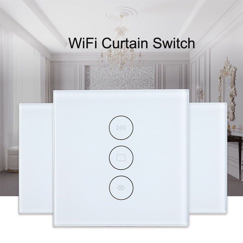 Tuya WiFI Smart Curtain Switch EU WiFi Switch For Electric Motorized Curtain Blind Roller Shutter Works With Alexa Google Home