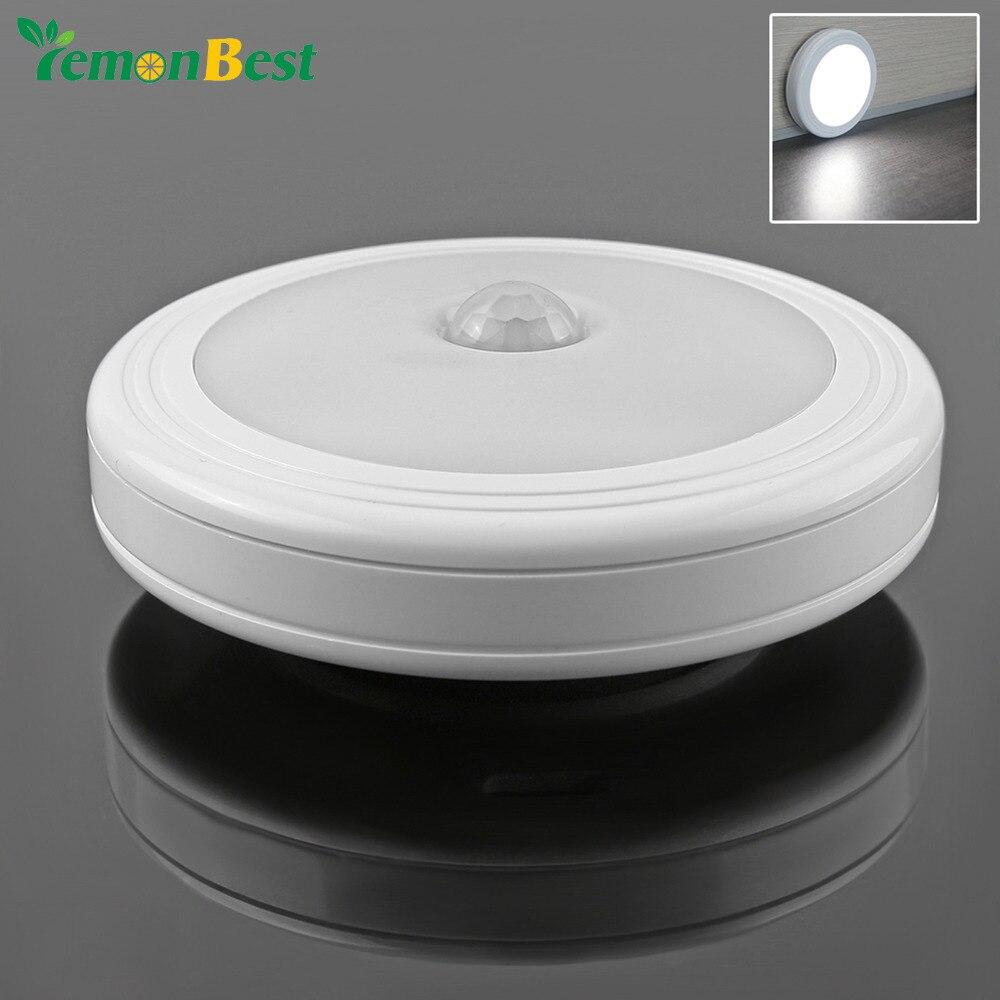 Battery Magnetic LED Night Light Infrared IR Motion Sensor ...