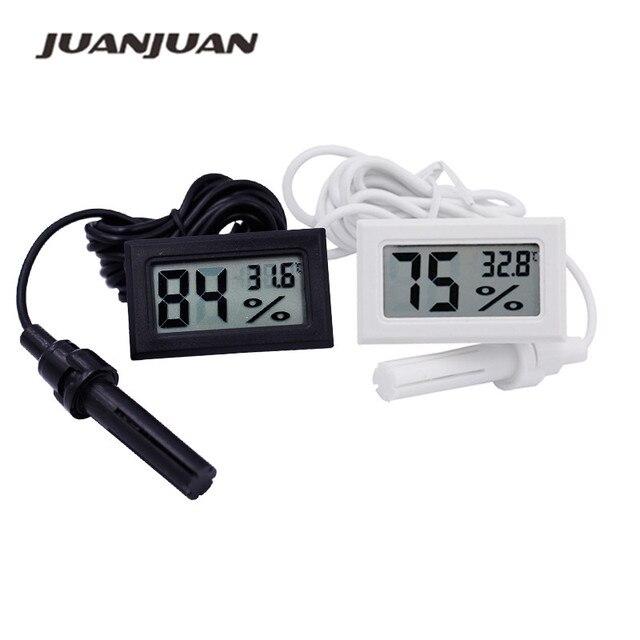 10 יח\חבילה מיני דיגיטלי LCD מקורה נוח טמפרטורת חיישן לחות מד מדחום מדדי לחות מד 10%