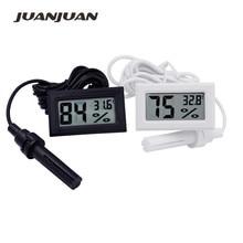 10 sztuk/partia mini cyfrowy lcd kryty wygodny czujnik temperatury miernik wilgotności termometr miernik higrometrowy 10%