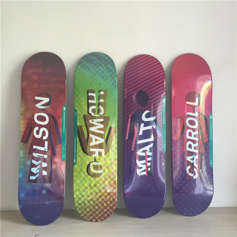 GIRL Graphics Double Rocker Men Skateboard Deck Girl Brand Board 8/8.12 Canadian Maple SKateboard Boards famous russian brand union board full canadian maple wooden deck skateboard 8 patins street 10types available