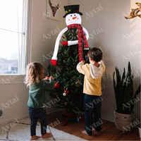 Прекрасный милый большой размер Снеговик Рождественская елка топперы модный дом торговый центр Рождественская елка Топпер орнамент новый