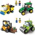 Single Sales City Series Tractor Sweeper Kids Children DIY Assembled Building Blocks Compatible Legoings