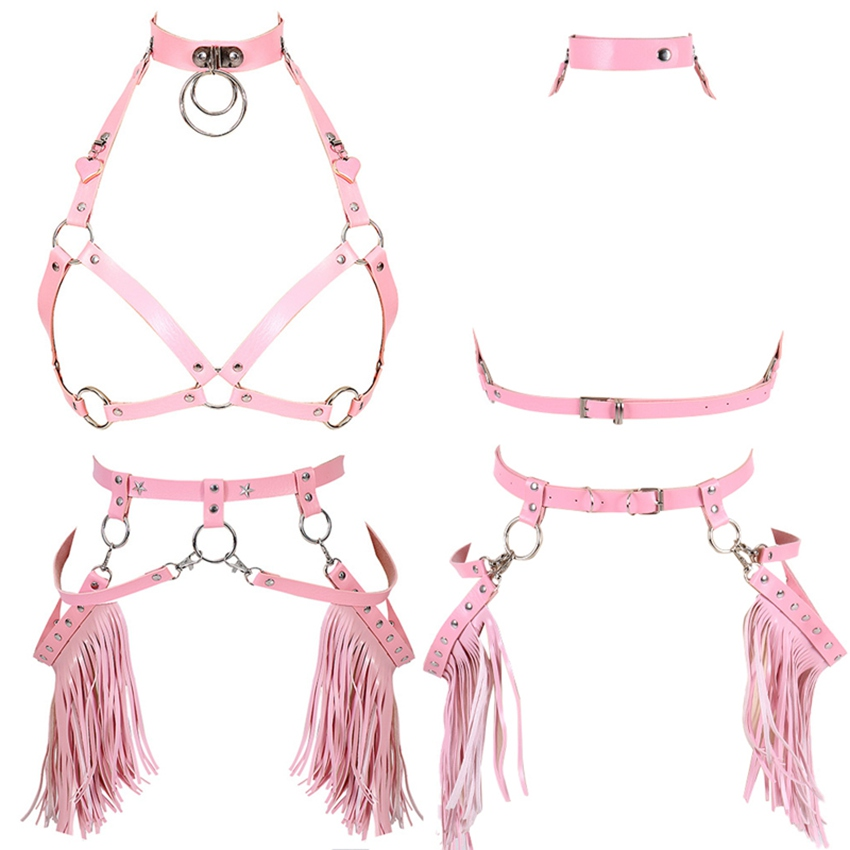 Apparel Accessories Sensible Cea.harness Womens Leather Harness Garters Female Leather Harness Women Leg Cage Body Bondage Adjustable Harajuku Accessories