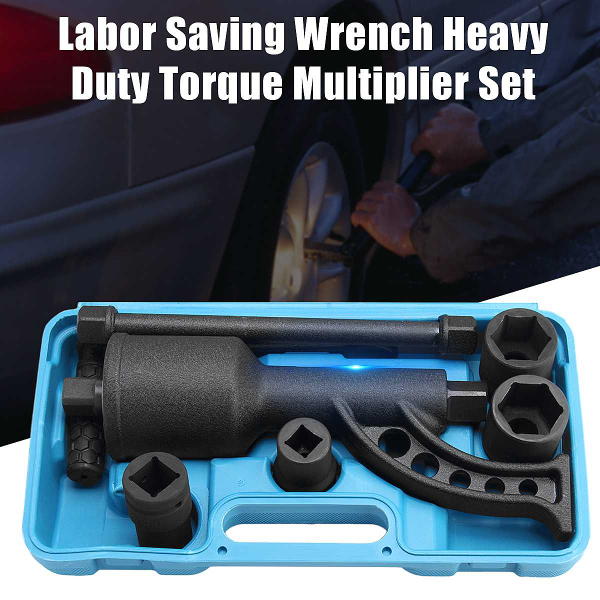 Torque Multiplier Wrench Lug Nut Lugnuts Remover Labor Saving Socket Car Wash Maintenance Engine Care